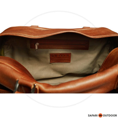 ANTELO QUORUM UNISEX WEEKENDER BAG- TOFFEE