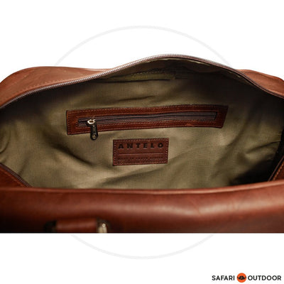 ANTELO QUORUM UNISEX WEEKENDER BAG -DIESEL BROWN