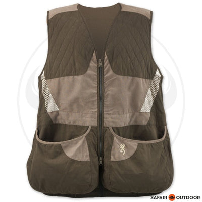 BROWNING SUMMIT VEST - CHOCOLATE/TAUPE
