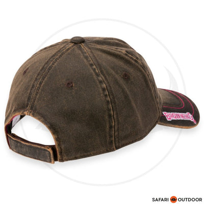 BROWNING CAP LADIES FAUX FUCHSIA -BROWN