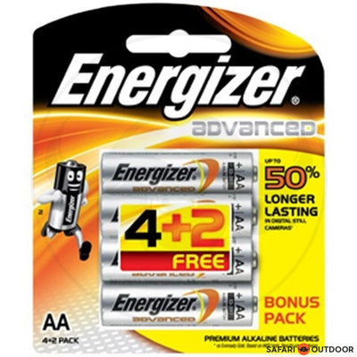 ENERGIZER ADVANCED AA ALKALINE BATTERIES 4+2 PROMO PACK