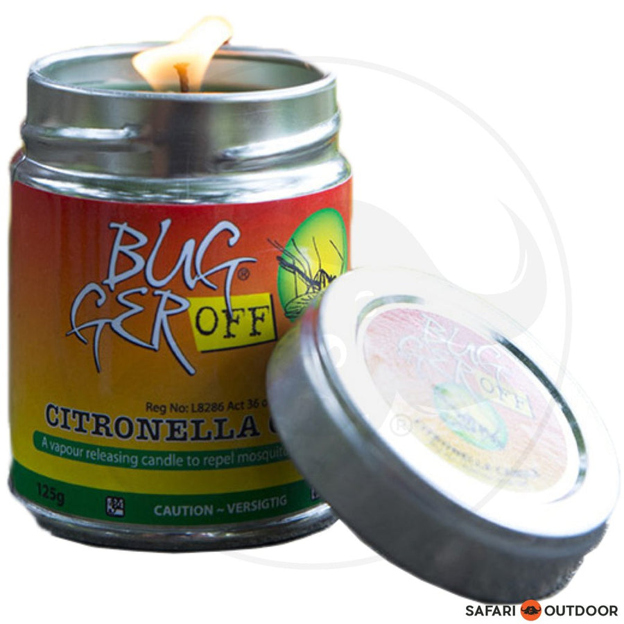 BUGGER OFF W16R5 CITRONELLA CANDLE 125G