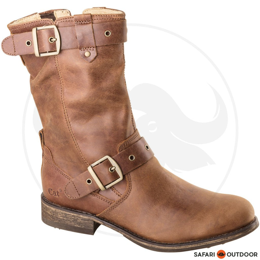 CAT BOOT LADIES MIDI  -WOOD