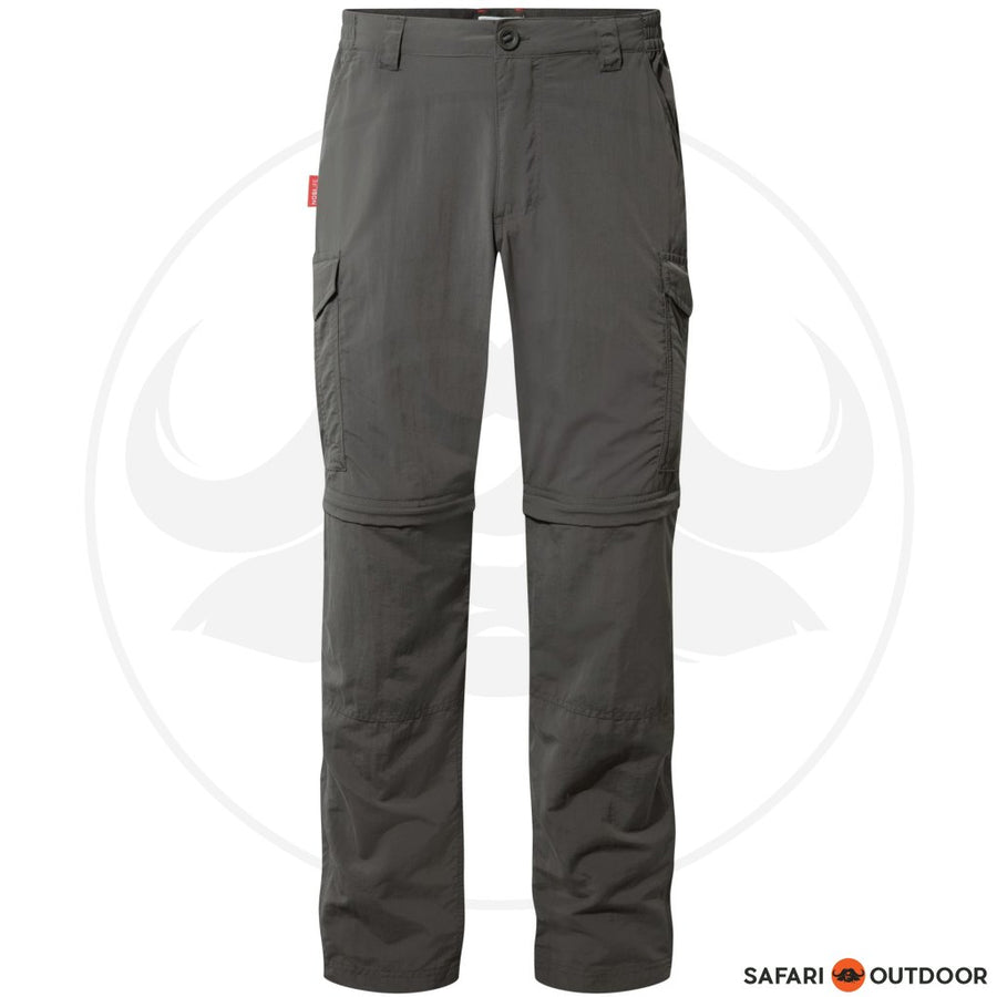 CRAGHOPPERS PANTS MEN NOSILIFE 2IN1 - CHARCOAL