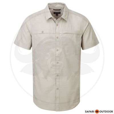 CRAGHOPPERS SHORT SLEEVE MEN KIWI TREK -PARCHMENT