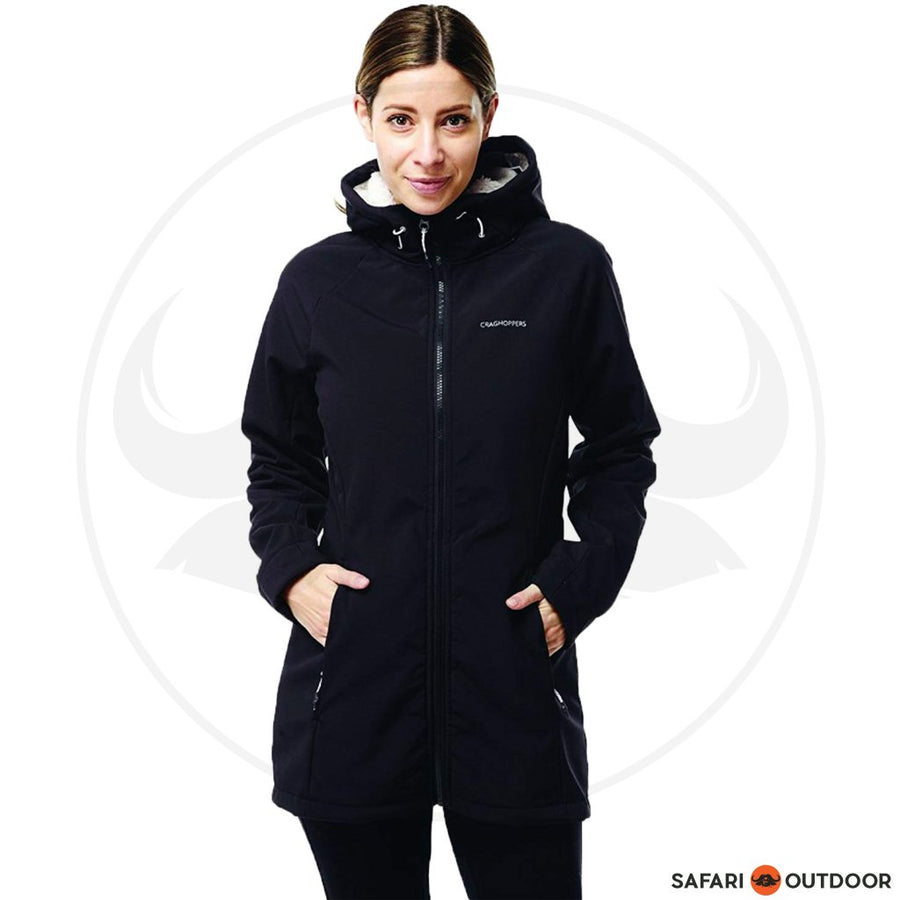 CRAGHOPPERS JACKET LADIES INGRID HOODED SOFTSHELL -BLACK