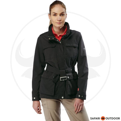 CRAGHOPPERS JACKET LADIES NOSILIFE SAFARI - CHARCOAL