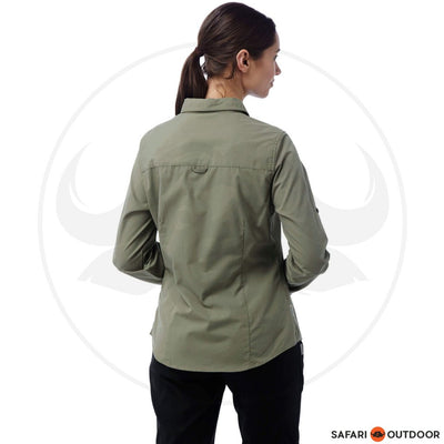 CRAGHOPPERS LADIES KIWI LONG SLEEVED SHIRT - SOFT MOSS