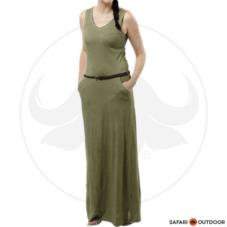 CRAGHOPPERS NOSILIFE LADIES AMIEE MAXI DRESS - OLIVE