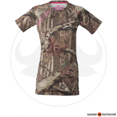 GIRLS WITH GUNS SHORT SLEEVE LADIES BASE LAYER -MOC
