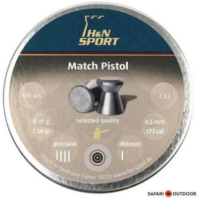 PELLET H&N MATCH 4.5MM / .177 7.56GR (500)