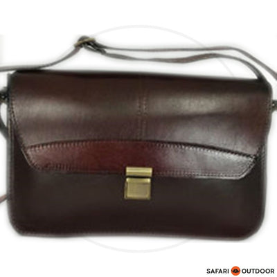 DER LEDER HANDBAG SHARON STIFF DIESEL -DARK BROWN