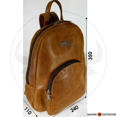 DER LEDER BACKPACK STIFF -DIESEL TOFFEE