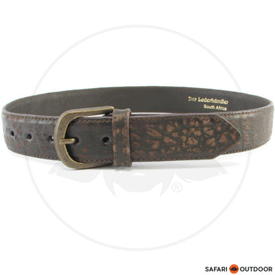 DER LEDERHANDLE BELT LEDER ELEGANT -BUFFALO BROWN