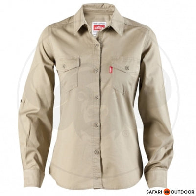 JONSSON LADIES LONG SLEEVE WORK SHIRT -KHAKI