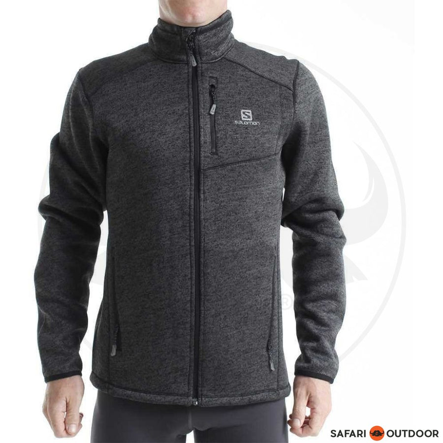 SALOMON JACKET MEN BISTRO HEATHER - BLACK