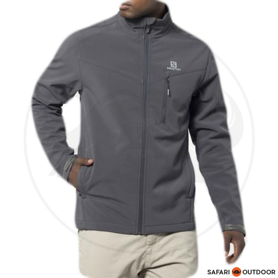 SALOMON JACKET W18F3 MEN SOFTSHELL AMBER -GREY