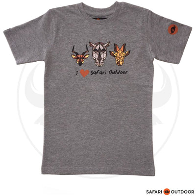 SAFARI OUTDOOR T-SHIRT KIDZ I LOVE SAFARI - GREY