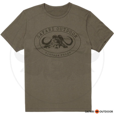 SAFARI OUTDOOR T-SHIRT MEN CLASSIC - VINTAGE KHAKI