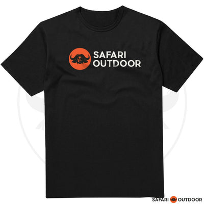SAFARI OUTDOOR T-SHIRT MEN STANDARD LOGO - BLACK