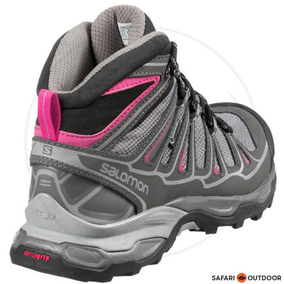 SALOMON BOOTS LADIES X ULTRA MID 2 GTX - GREY/PINK