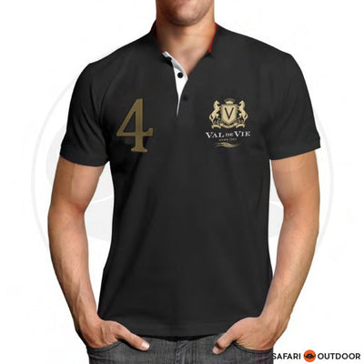 VAL DE VIE POLO SHIRT MEN NO 4 BLACK