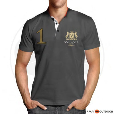 VAL DE VIE POLO SHIRT MEN NO 1 GREY