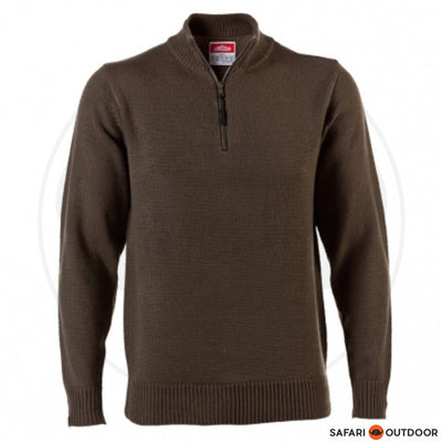 JONSSON BONDED FLEECE 1/4 ZIP MEN -FATIGUE