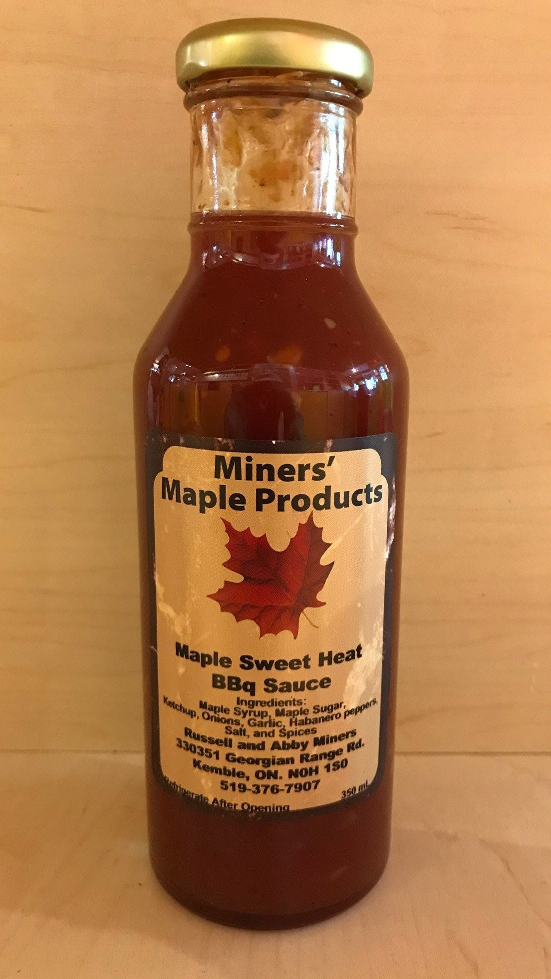 Maple Sweet Heat Barbeque Sauce