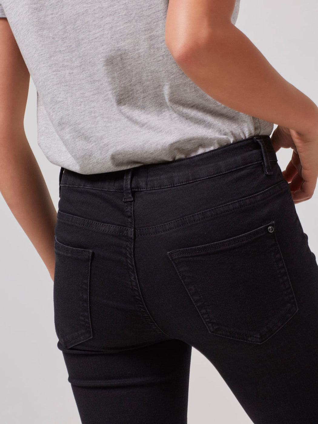Gaia Jegging Black Denim