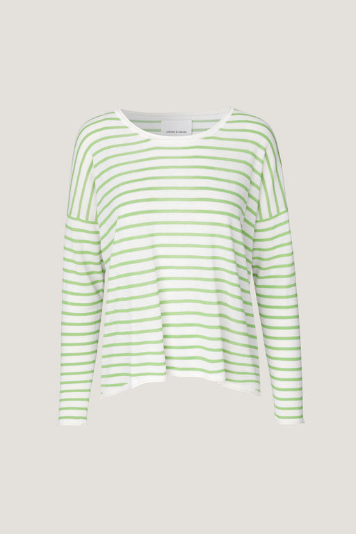 Kally Striped Knit Green/White