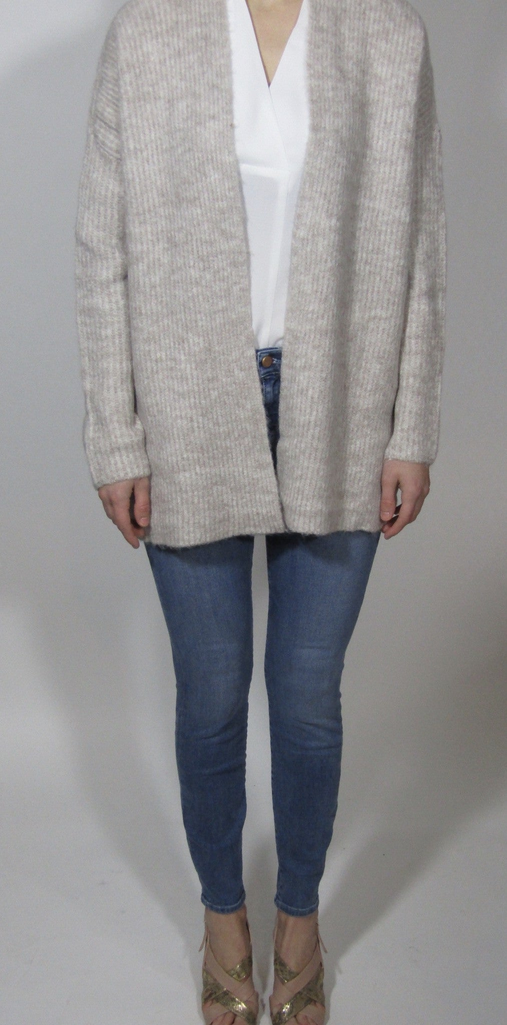 Knitted Cardigan Light Pink