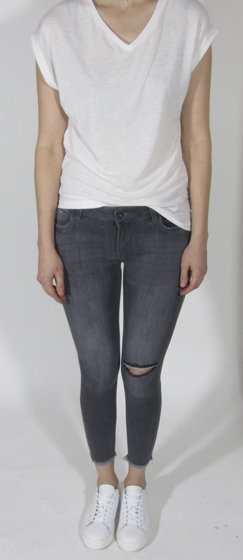 Queen Heart Jeans Grey