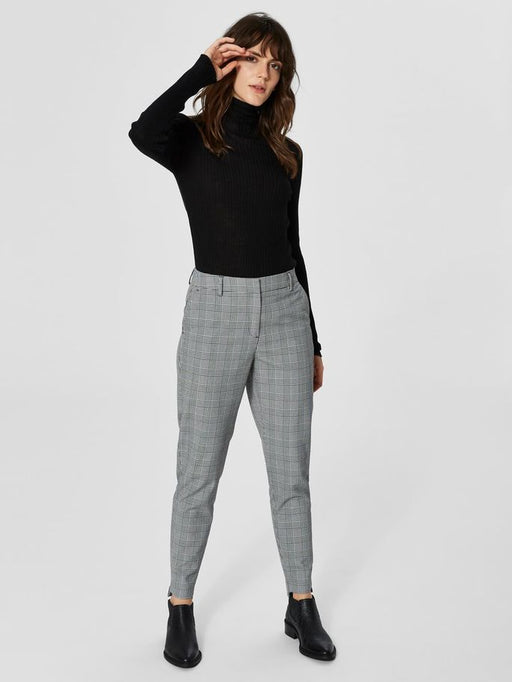 Amila Pants Check Medium Grey