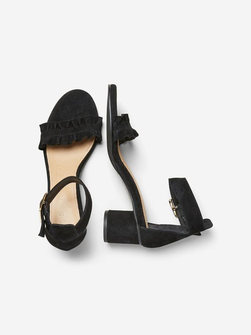 Merle Ruffle Sandals Black