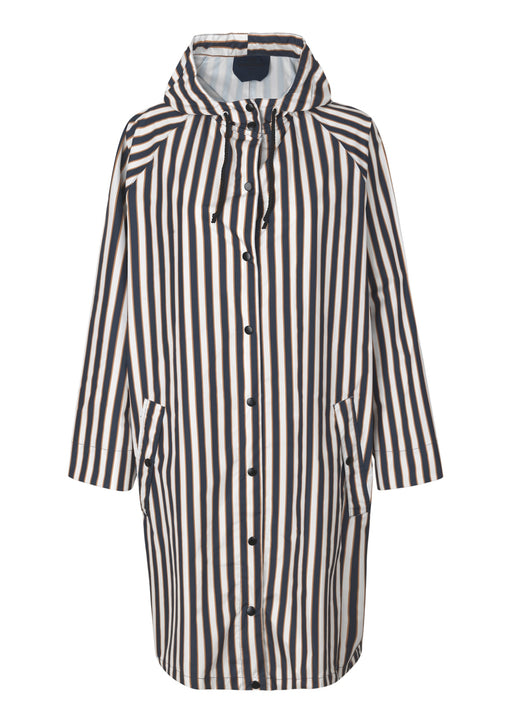 Magpie Striped Raincoat Blue Nights