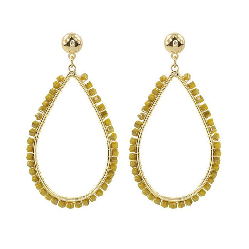 Crystal Teardrop Yellow Gold