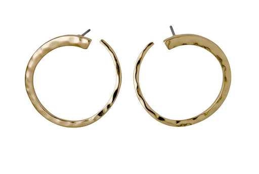 Abbie Gold Plated Earrings Curved Design