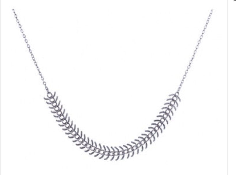 Fishbone Necklace Silver