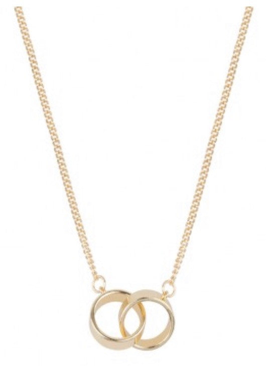 Tribeca Circle Necklace Gold