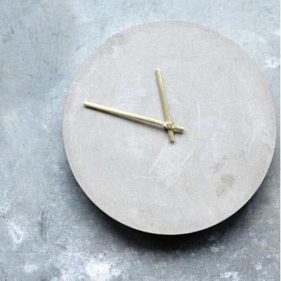 Concrete Clock Grey