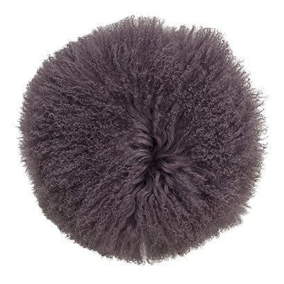 Lamskin Cushion Purple