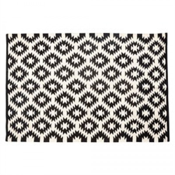 Wogen Cotton Rug Black/Nature