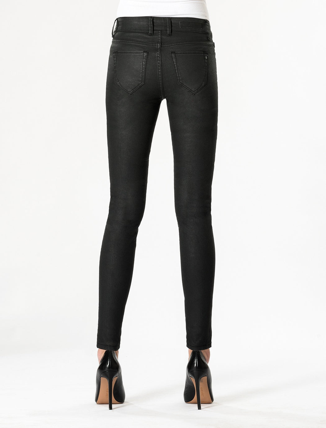 Sylvia Jeans Black Coated