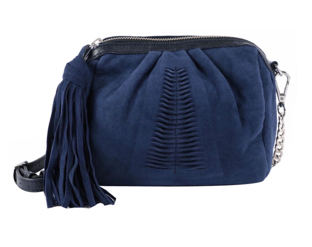 Adrienne Mini Leather Bag Blue
