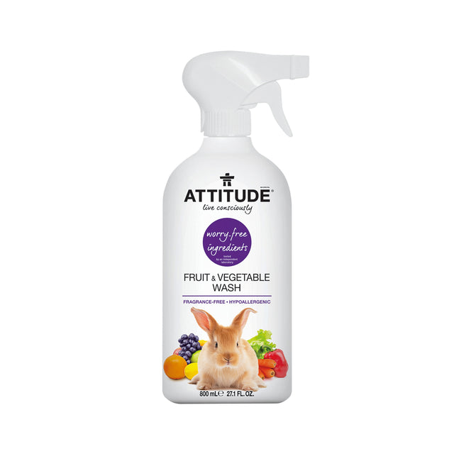Attitude Fruit & Vegetable Wash (Fragrance-free) 800 ml