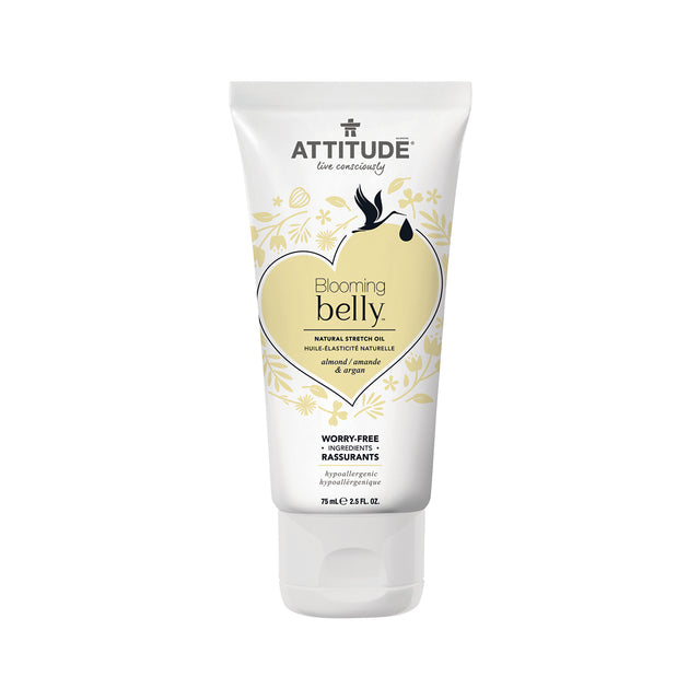 Attitude Blooming Belly Stretch Oil (Almond & Argan) 75 gr