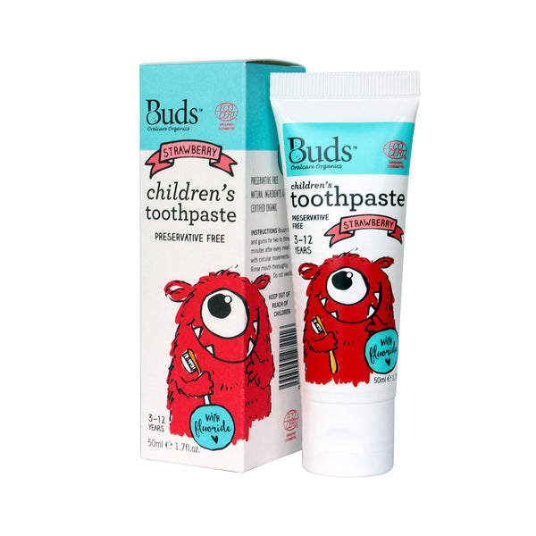 Toothpaste with Fluoride - Kids (Strawberry)