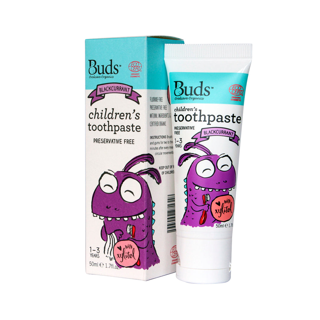Buds Organics Toothpaste with Xylitol - Kids (Blackcurrant) 50 ml