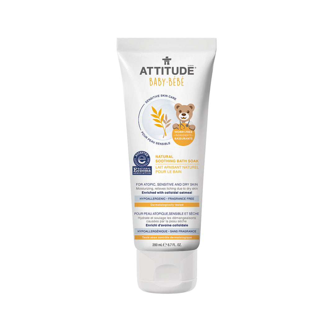 Attitude Soothing Bath Soak - Baby (Fragrance-free) 200 ml